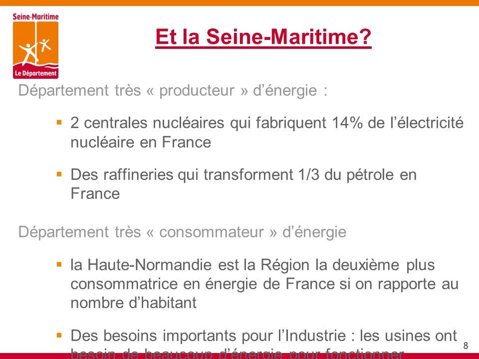 Et la Seine-Maritime Département très « producteur » d'énergie :