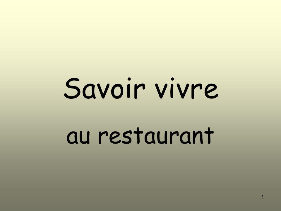 Savoir vivre au restaurant