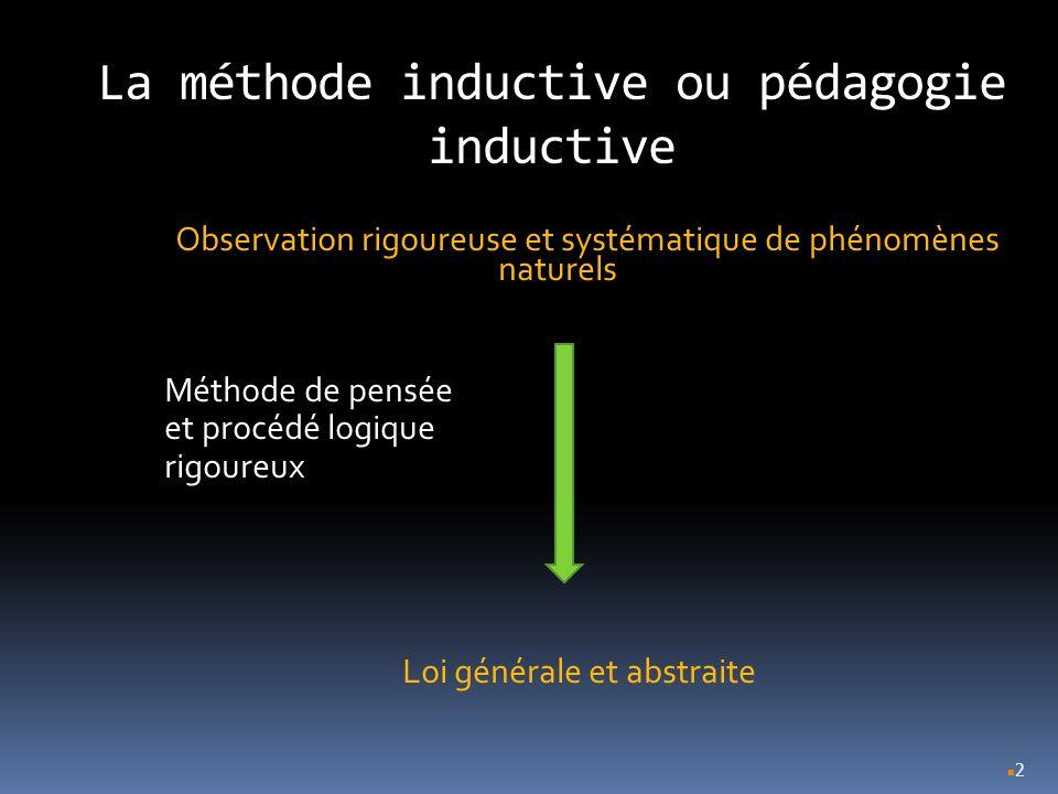 La méthode inductive ou pédagogie inductive