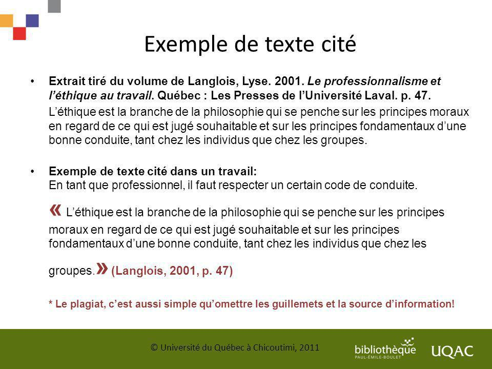 Exemple de texte cité