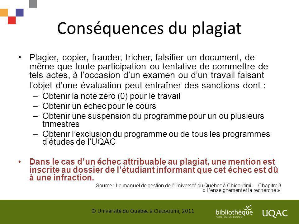 Conséquences du plagiat