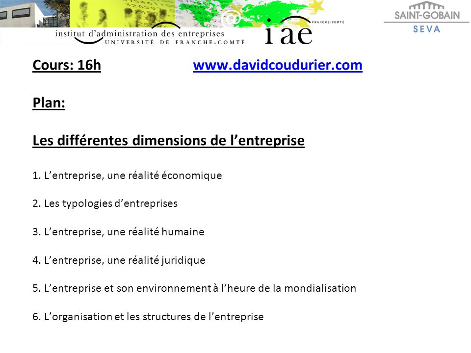 Cours: 16h www. davidcoudurier
