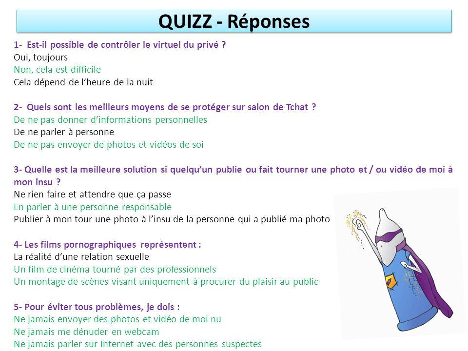 QUIZZ - Réponses 1- Est-il possible de contrôler le virtuel du privé