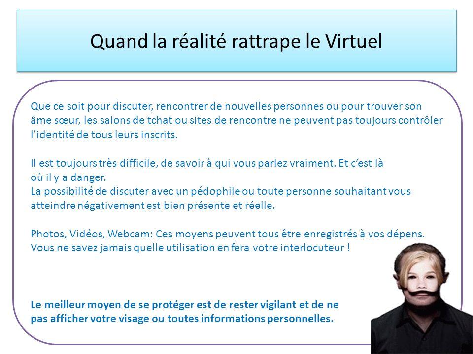 Quand la réalité rattrape le Virtuel
