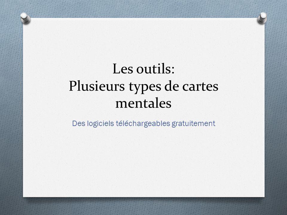 Les outils: Plusieurs types de cartes mentales
