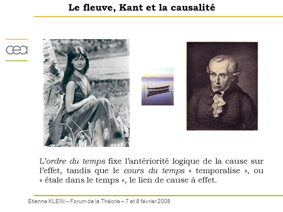 Le fleuve, Kant et la causalité