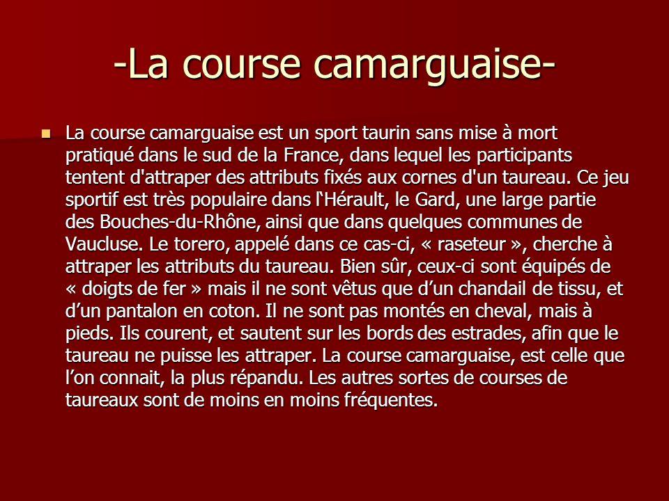 -La course camarguaise-