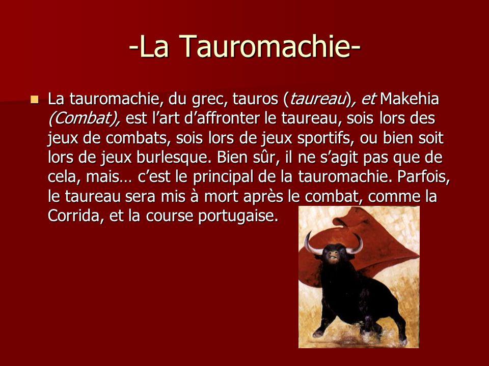 -La Tauromachie-