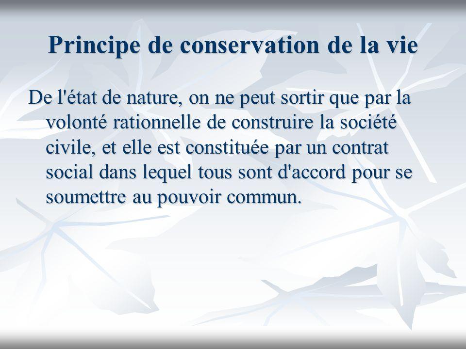 Principe de conservation de la vie