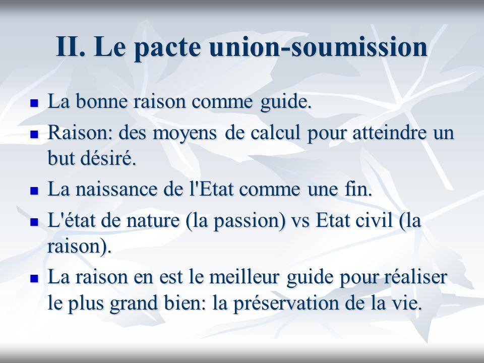 II. Le pacte union-soumission