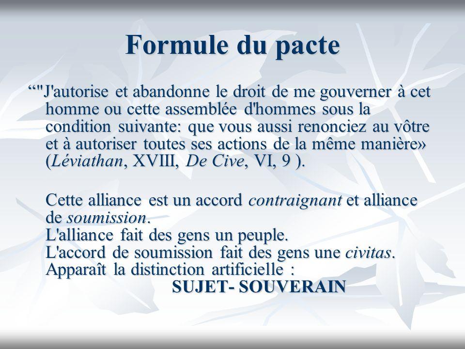 Formule du pacte