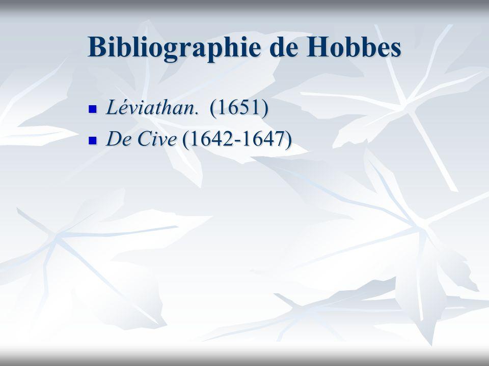 Bibliographie de Hobbes