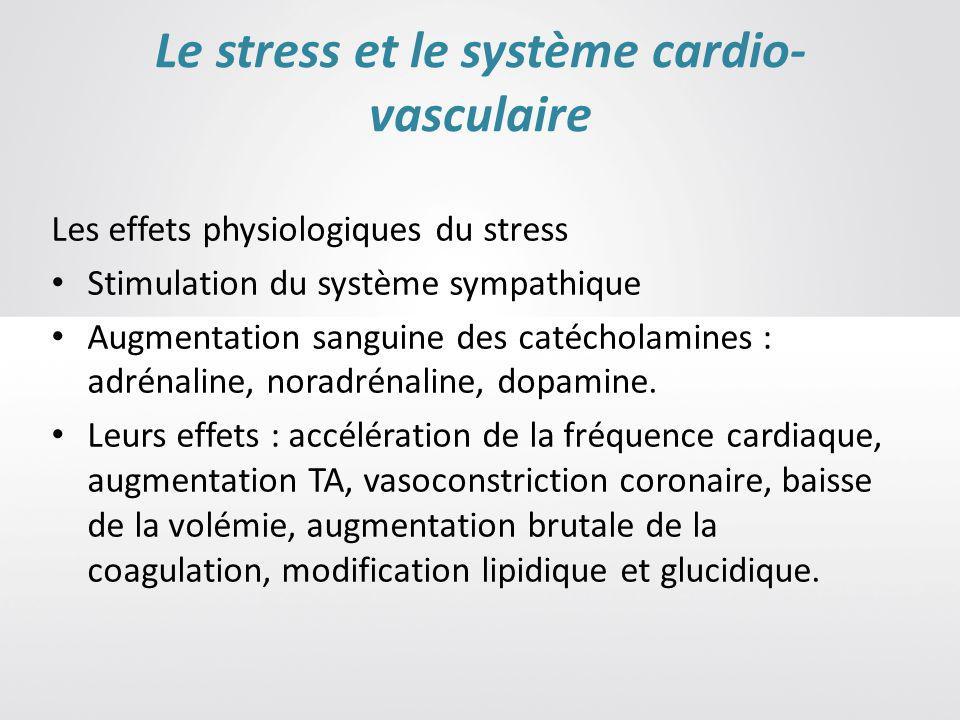 Le stress et le système cardio-vasculaire