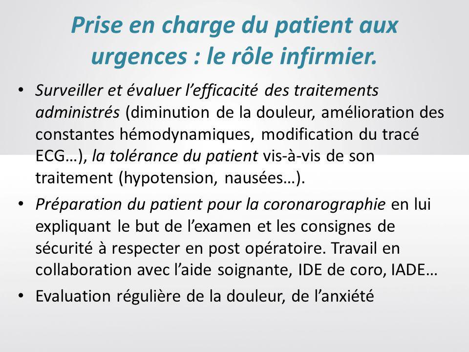 Prise en charge du patient aux urgences : le rôle infirmier.