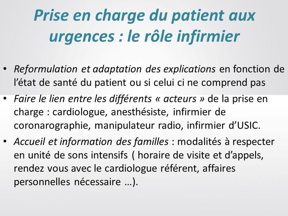 Prise en charge du patient aux urgences : le rôle infirmier