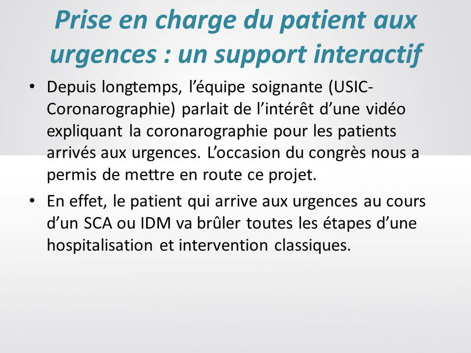 Prise en charge du patient aux urgences : un support interactif