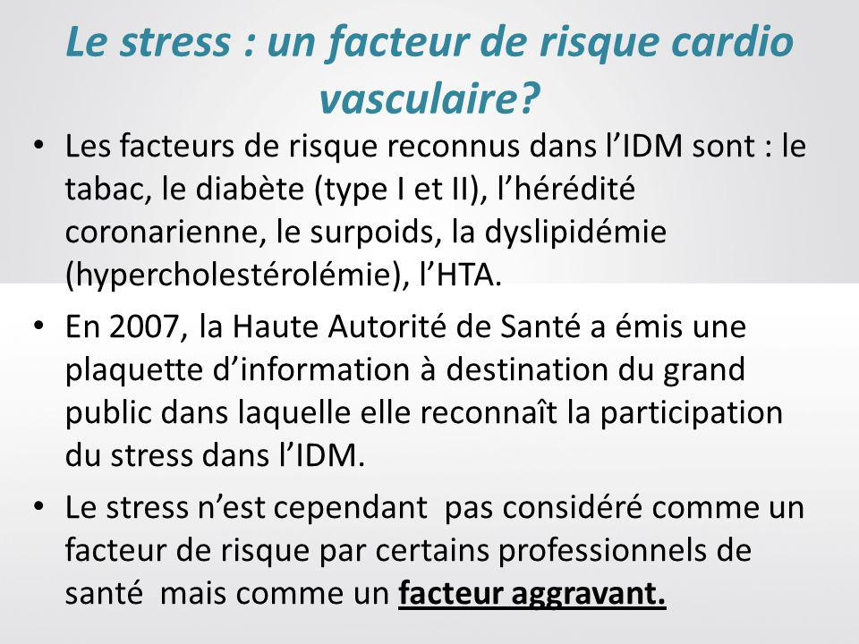 Le stress : un facteur de risque cardio vasculaire