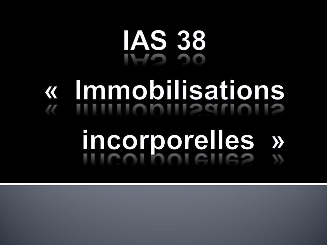 IAS 38 « Immobilisations incorporelles »