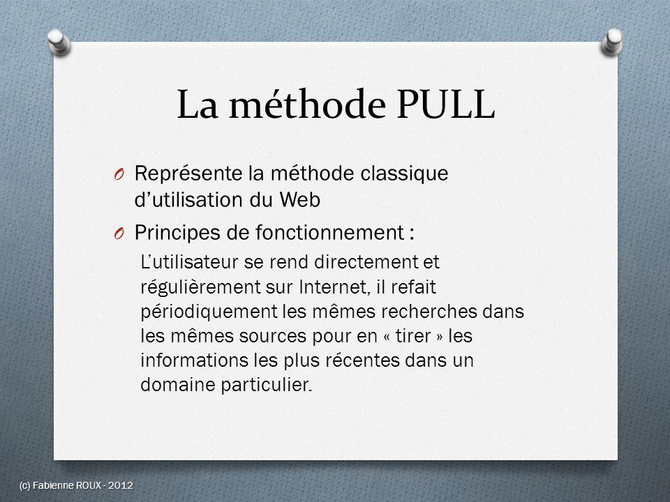 La méthode PULL Représente la méthode classique d'utilisation du Web