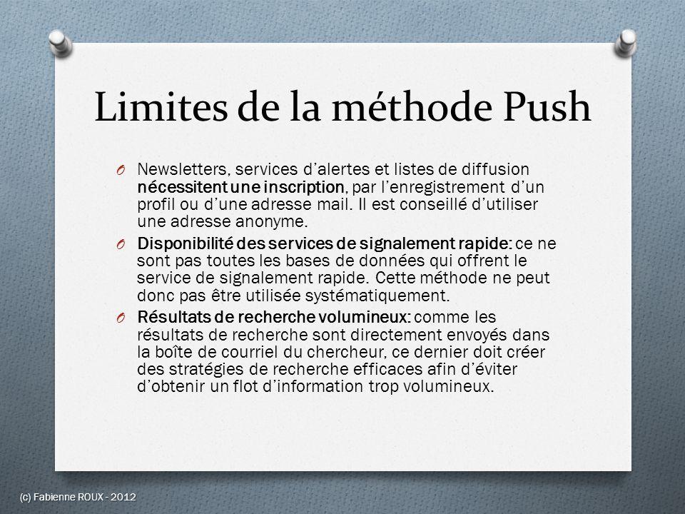 Limites de la méthode Push