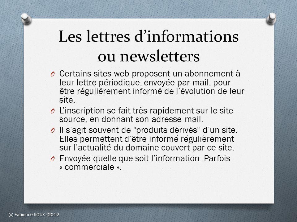 Les lettres d'informations ou newsletters