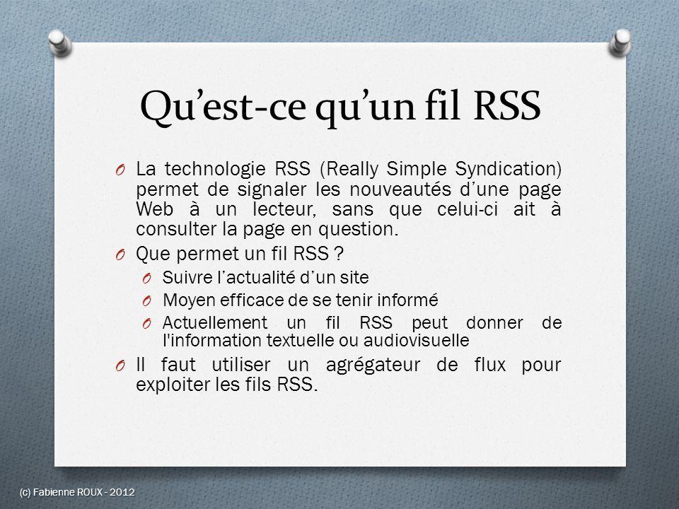Qu'est-ce qu'un fil RSS