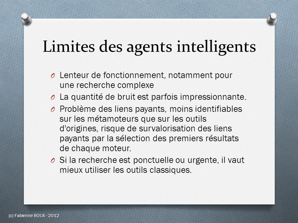 Limites des agents intelligents