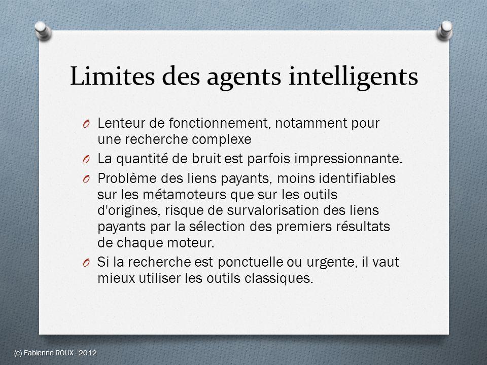 Limites des agents intelligents