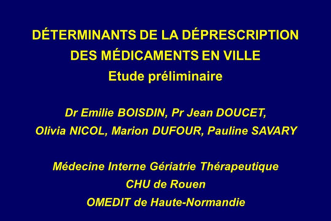 Prescriptions thérapeutiques utiles et inutiles