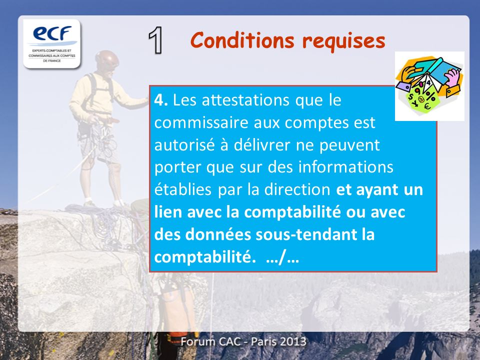 Conditions requises