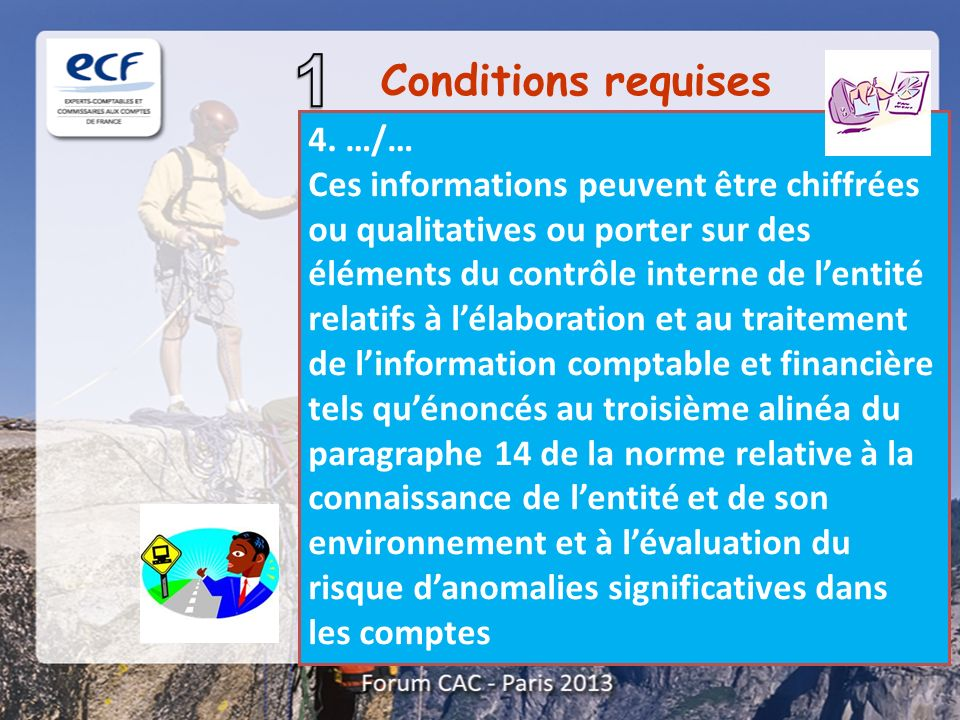 Conditions requises 4. …/…