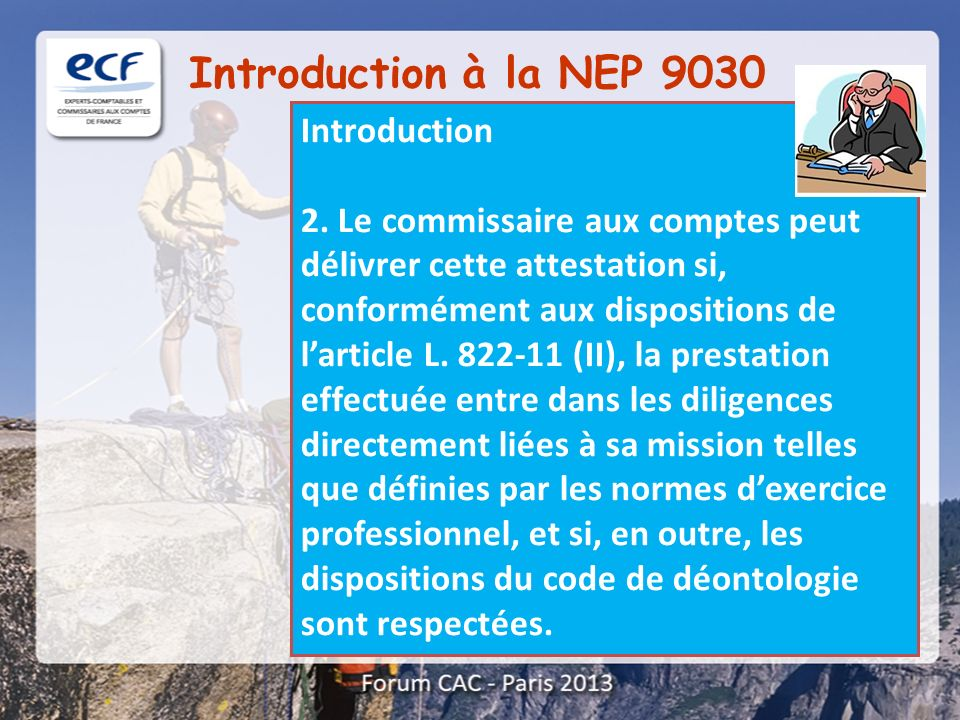 Introduction à la NEP 9030 Introduction
