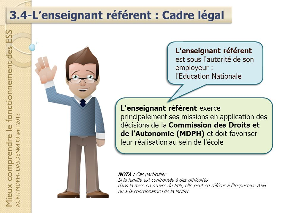 3.4-L'enseignant référent : Cadre légal