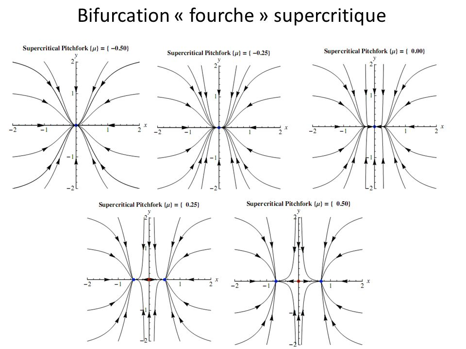 Bifurcation « fourche » supercritique