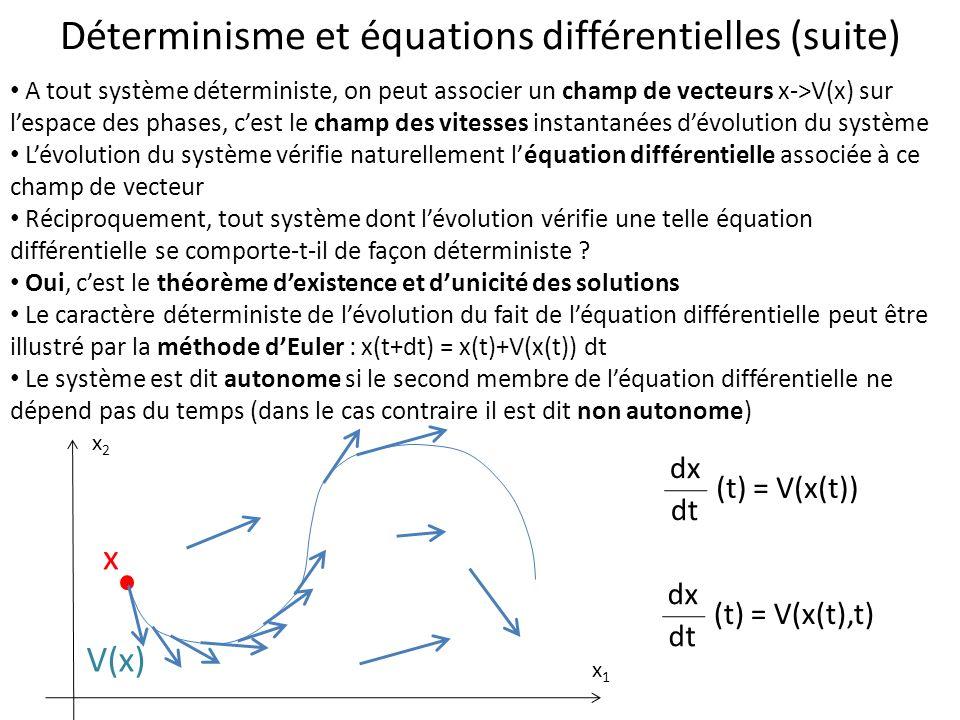 Déterminisme et équations différentielles (suite)