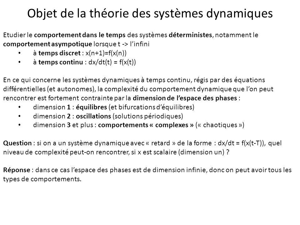 Objet de la théorie des systèmes dynamiques