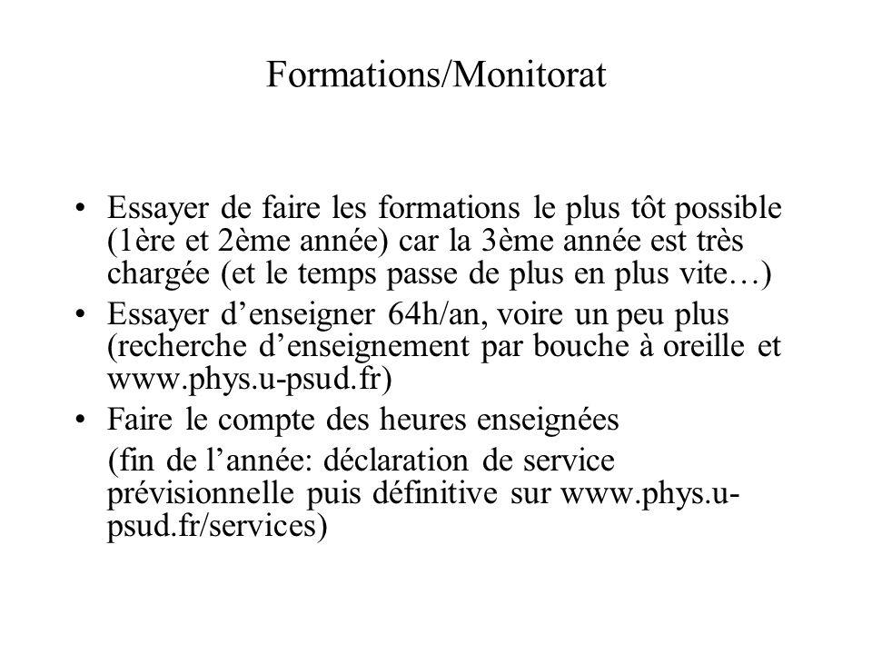 Formations/Monitorat