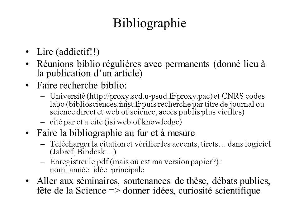 Bibliographie Lire (addictif!!)