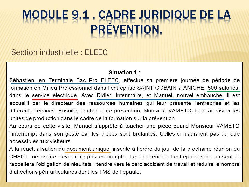 Module 9.1 . Cadre juridique de la prévention.