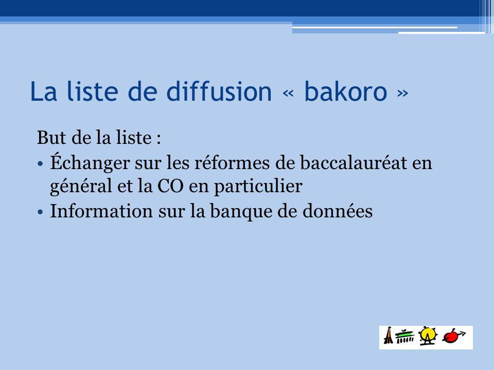 La liste de diffusion « bakoro »