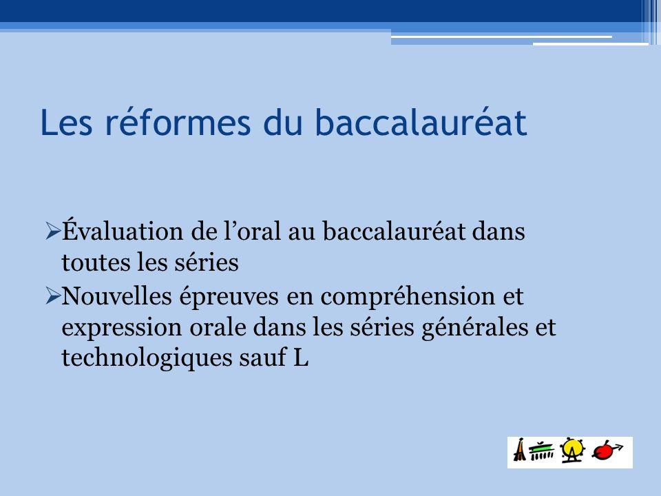 Les réformes du baccalauréat