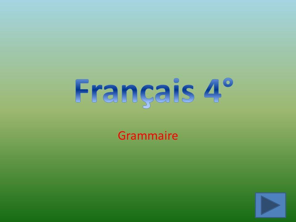 Français 4° Grammaire