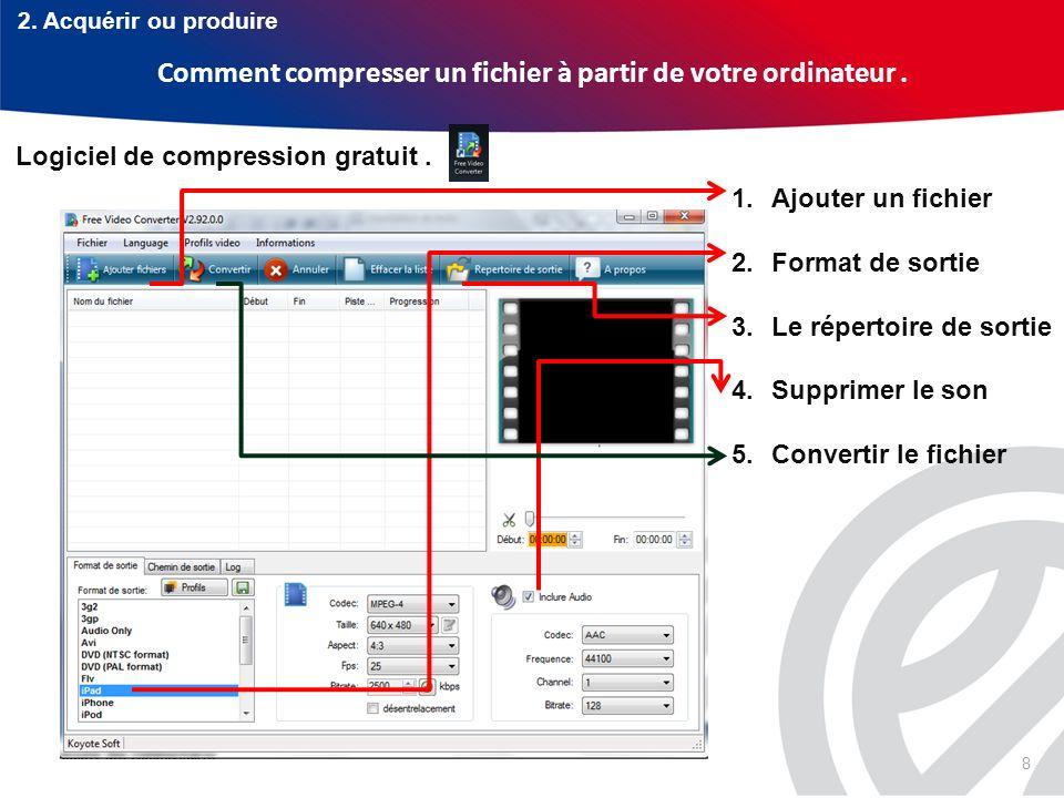 Comment compresser un fichier à partir de votre ordinateur .