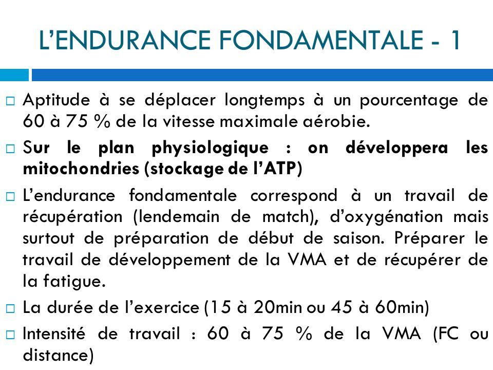 L'ENDURANCE FONDAMENTALE - 1