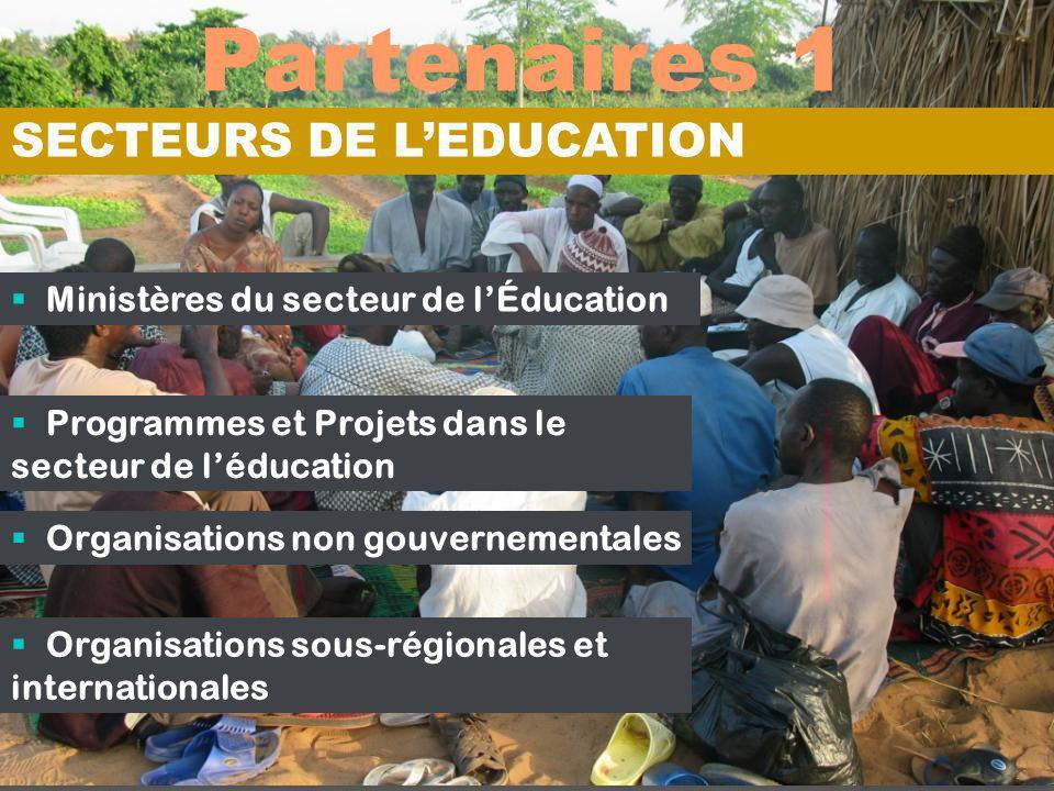 Partenaires 1 SECTEURS DE L'EDUCATION