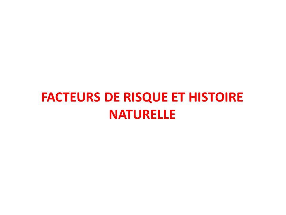 FACTEURS DE RISQUE ET HISTOIRE NATURELLE
