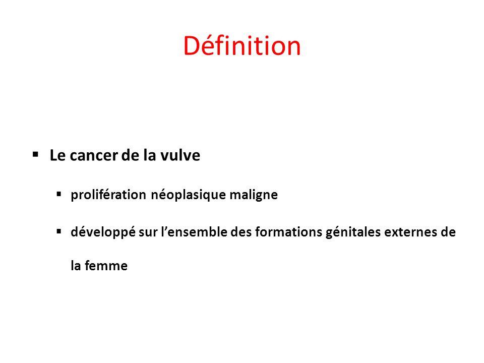 Définition Le cancer de la vulve prolifération néoplasique maligne