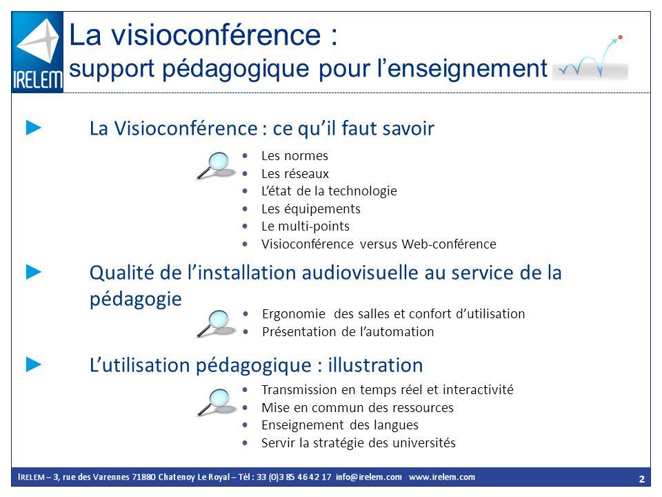 La visioconférence : support pédagogique pour l'enseignement
