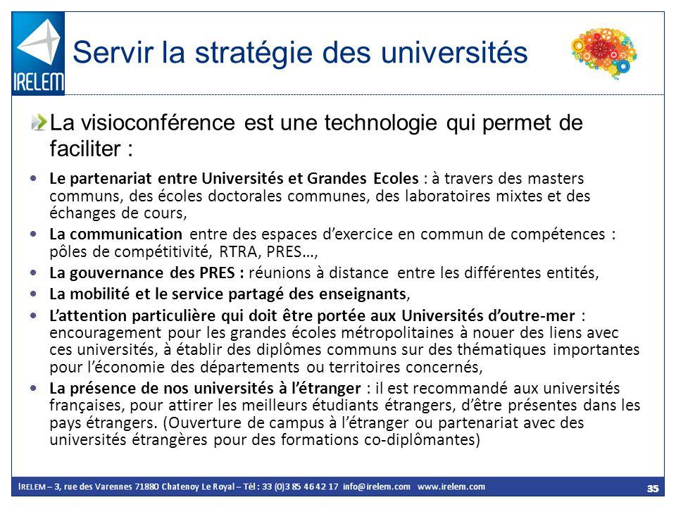 Servir la stratégie des universités