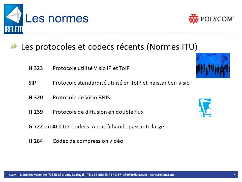 Les normes Les protocoles et codecs récents (Normes ITU)
